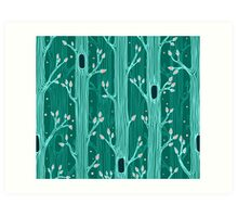 Seamless pattern with trees Art Print