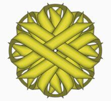 Yellow Flower Ribbon One Piece - Long Sleeve