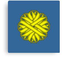 Yellow Flower Ribbon Canvas Print