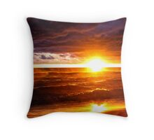 Bright Stormy Sunset Throw Pillow
