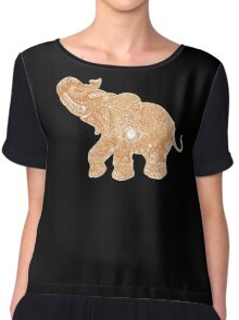gold lucky  elephant Chiffon Top