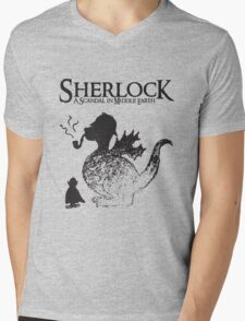 Sherlock: A Scandal in Middle-earth Mens V-Neck T-Shirt
