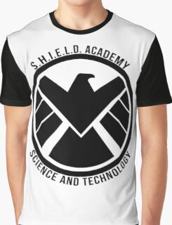 S.H.I.E.L.D. Academy Sci-Tech (Black) Graphic T-Shirt