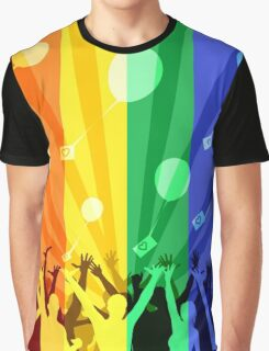 Happy people launch balloons Graphic T-Shirt