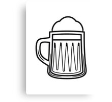 Beer tankard beer glass Canvas Print