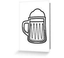 Beer tankard beer glass Greeting Card