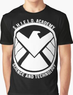 S.H.I.E.L.D. Academy Sci-Tech (White) Graphic T-Shirt