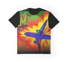 Comic Plane Graphic T-Shirt