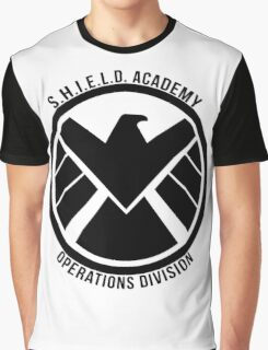 S.H.I.E.L.D. Academy Operations Division (black) Graphic T-Shirt