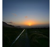 Walk along the coast at Eary Cushlin - photography Photographic Print