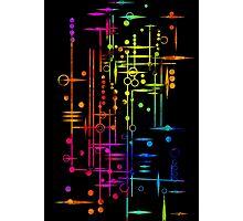 Kree City Blueprints (Watercolour Splatter) Photographic Print