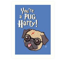 Harry Pug Art Print