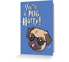 Harry Pug Greeting Card