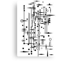 Kree City Blueprints (Black) Canvas Print
