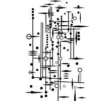 Kree City Blueprints (Black) Photographic Print