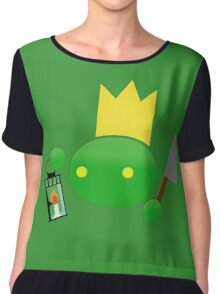 King Tonberry stabbed you! Chiffon Top