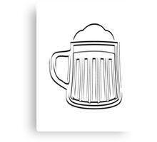 Beer Beer Glass thirst Canvas Print