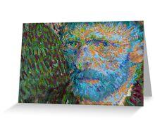Vincent van Gogh Generative Portrait Variant Greeting Card