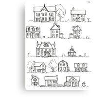 Sketching a Neighborhood Canvas Print