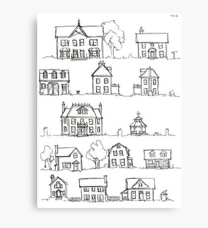 Sketching a Neighborhood Metal Print