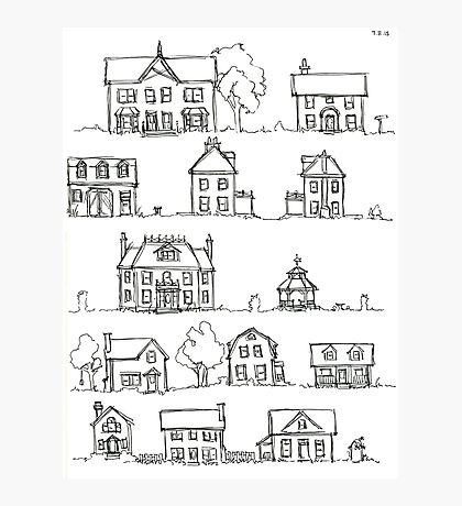 Sketching a Neighborhood Photographic Print