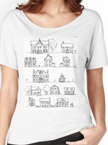 Sketching a Neighborhood Women's Relaxed Fit T-Shirt