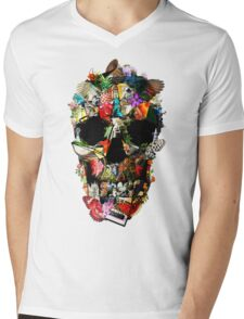 Fragile Skull 2 Mens V-Neck T-Shirt