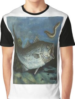 Striped Bass Chasing an Eel Graphic T-Shirt