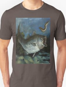 Striped Bass Chasing an Eel Unisex T-Shirt