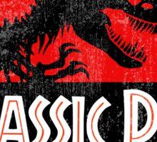 Jurassic Park Logo Grunge Sticker