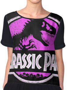 Jurassic Park Logo Grunge Chiffon Top
