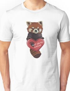 Not On My Watch - Red Panda With Heart Unisex T-Shirt