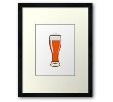 Beer Beer Glass Framed Print