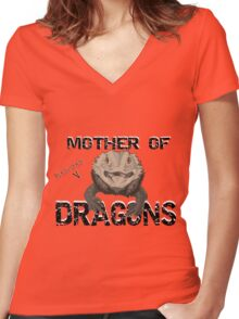 Mother of Bearded Dragons Women's Fitted V-Neck T-Shirt