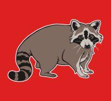 Cute Realistic Cartoon Raccoon Kids Tee
