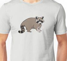 Cute Realistic Cartoon Raccoon Unisex T-Shirt