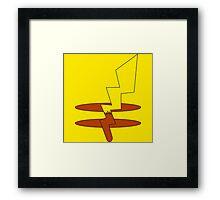 Pikachu's Tail Framed Print