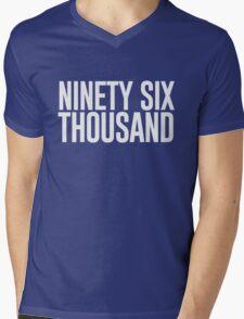 Ninety Six Thousand (Black BG) Mens V-Neck T-Shirt