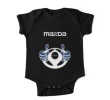 Mazda Eternal Flame Logo Blue One Piece - Short Sleeve