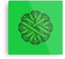 Green Flower Ribbon Metal Print