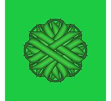 Green Flower Ribbon Photographic Print