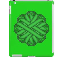 Green Flower Ribbon iPad Case/Skin