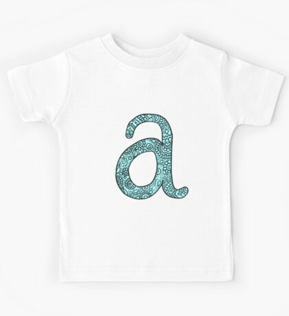 zentangle a: light blue  Kids Tee