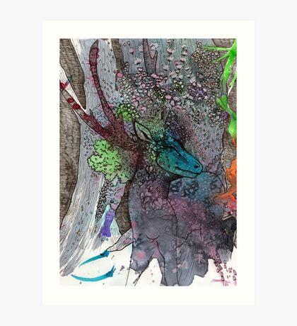 Forest God Walks in Grace Art Print