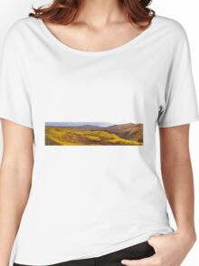 Fall taiga recovering from fire, Fox Lake burn, Yukon Territory, Canada Women's Relaxed Fit T-Shirt