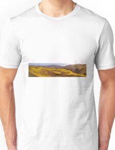 Fall taiga recovering from fire, Fox Lake burn, Yukon Territory, Canada Unisex T-Shirt