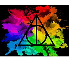 Rainbow Hallows 2 (black background) Photographic Print