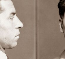 Lucky Luciano Mugshot  Sticker
