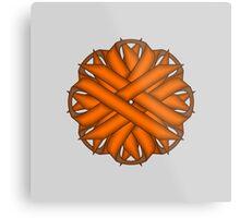 Orange Flower Ribbon Metal Print