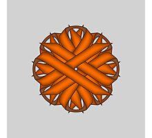 Orange Flower Ribbon Photographic Print